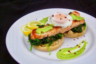 "Salmon Eggs Benedict with Avocado ""Hollandaise"" Recipe (PLUS: An Easy Shrimp Stir-Fry!)"